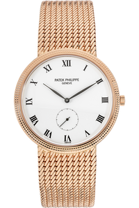 18K Rose Gold Calatrava Manual Reference 3919