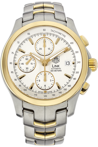 18K Yellow Gold and Stainless Steel Link Chronograph Automatic