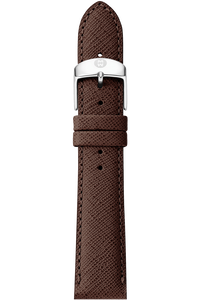 16MM Brown Saffiano Leather Strap