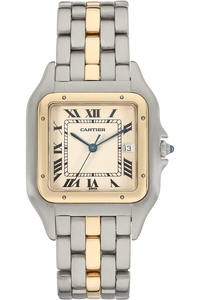 18K Yellow Gold and Stainless Steel Panthere Quartz