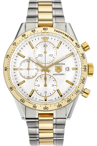 18K Yellow Gold and Stainless Steel Carrera Chronograph Automatic
