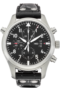 Stainless Steel Pilot's Double Chronograph Automatic