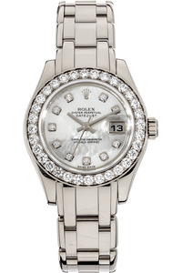 18K White Gold Datejust Pearlmaster Automatic