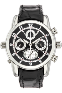 Masterpiece Globe Chronograph Stainless Steel Automatic