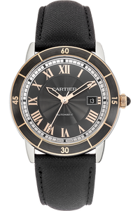 18K Rose Gold and Stainless Steel Ronde Croisiere de Cartier Automatic