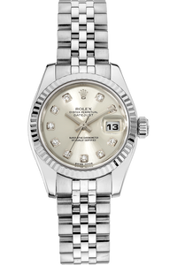 18K White Gold and Stainless Steel Datejust Automatic