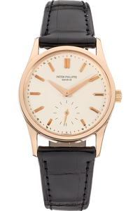 18K Rose Gold Calatrava Manual Reference 3796