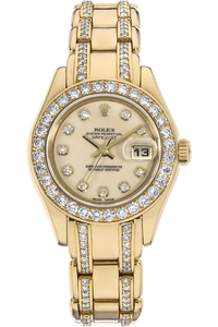 18K Yellow Gold Datejust Pearlmaster Automatic