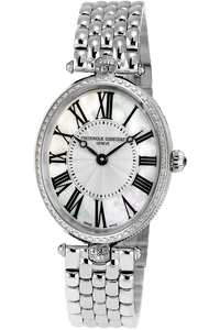Art Deco Oval Quartz and Diamond Bezel