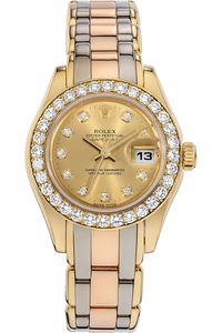 18K Tridor Gold Datejust Pearlmaster Automatic