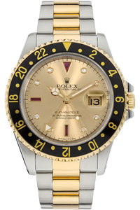 18K Yellow Gold and Stainless Steel GMT Master II Automatic
