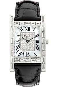 18K White Gold Rectangle Manual