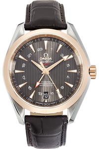 18K Rose Gold and Stainless Steel Seamaster Aqua Terra Co-Axial GMT Automatic