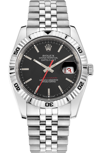 18K White Gold and Stainless Steel Datejust Turn-O-Graph Automatic