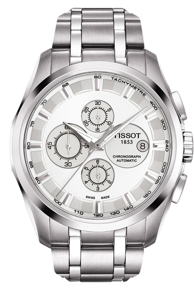 Couturier Men's Silver Chronograph Automatic Trend