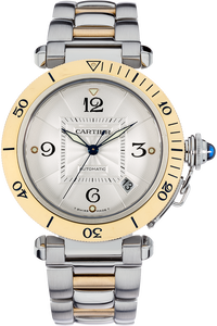 18K Yellow Gold and Stainless Steel Pasha Diver Automatic