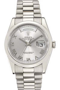 18K White Gold Day-Date Automatic
