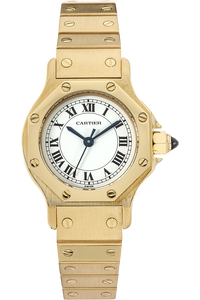 18K Yellow Gold Santos Ronde Automatic