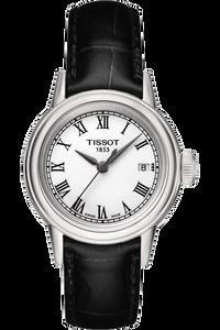 Carson Ladies Quartz Classic Watch with Black leather strap
