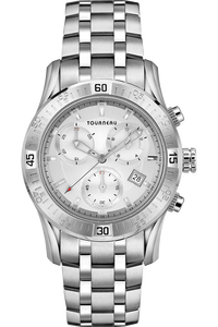 corporate gifts awards watches tourneau corporate collection men s steel silver silver bracelet
