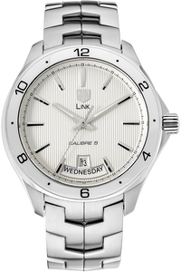 Stainless Steel Link Calibre 5 Day-Date Automatic