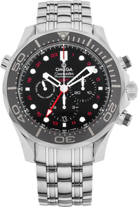 Seamaster Diver Co-Axial GMT Chronograph Stainless Steel