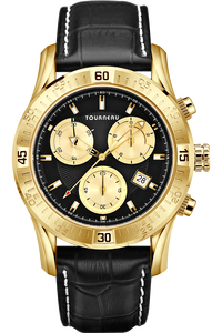 Men's Gold Tone Black /Gold Dial