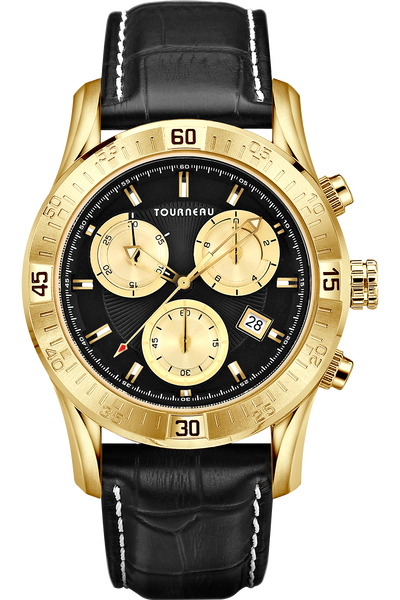 corporate gifts awards watches tourneau corporate collection men s gold tone black gold dial