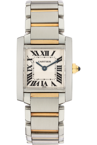 18K Yellow Gold and Stainless Steel Tank Francaise Quartz