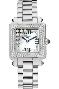 18K White Gold and Stainless Steel Happy Sport Quartz