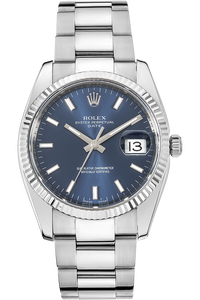 18K White Gold and Stainless Steel Date Automatic