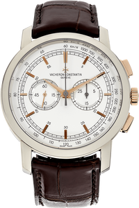 18K White Gold and Rose Gold Patrimony Traditionnelle Manual