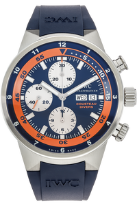 Stainless Steel Aquatimer Chronograph Cousteau Divers Automatic Limited Edition