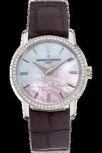 18K White Gold Patrimony Traditionnelle Lady Quartz