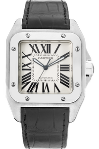 Stainless Steel Santos 100 Automatic Anniversary Edition