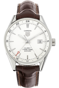 Stainless Steel Carrera Calibre 7 Twin Time Automatic