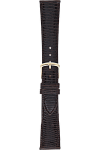 16 mm Dark Brown Leather Strap