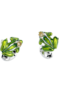 Frog with Crown Cufflinks