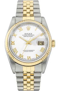 18K Yellow Gold and Stainless Steel Datejust Automatic Circa 1987