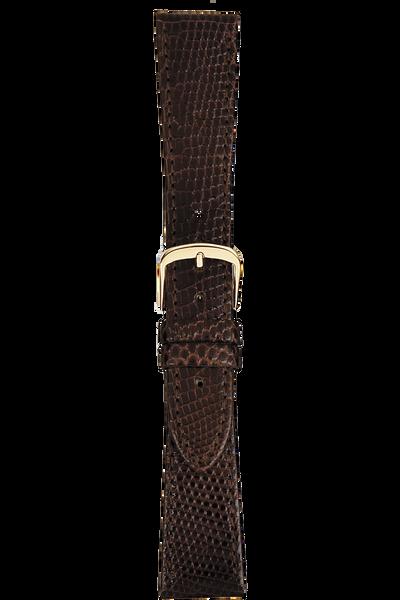 20 mm Brown Lizard Strap