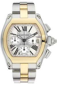 18K Yellow Gold and Stainless Steel Roadster Chronograph Automatic