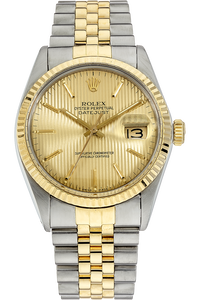 18K Yellow Gold and Stainless Steel Datejust Automatic Circa 1985