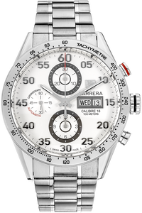 Stainless Steel Carrera Calibre 16 Day-Date Chronograph Automatic