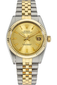 18K Yellow Gold and Stainless Steel Datejust Automatic Circa 1981