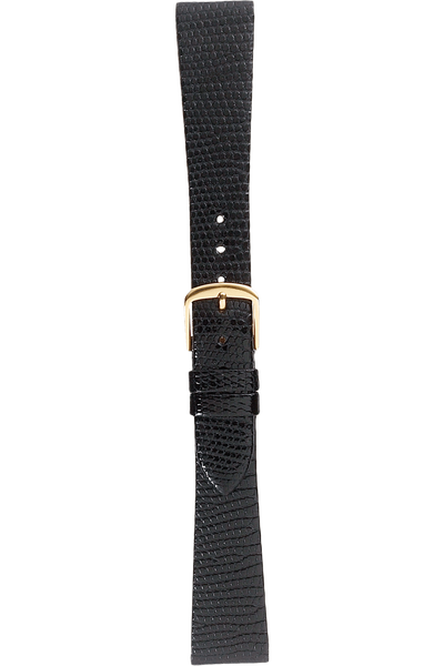 17 mm Black Lizard Strap