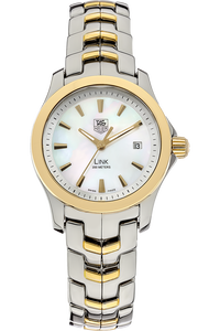 18K Yellow Gold and Stainless Steel Link Quartz