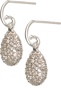 Hope Egg Earrings with White Topaz