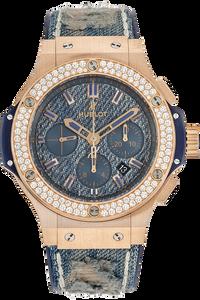 Big Bang Jeans Chronograph Rose Gold Automatic