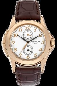 18K Rose Gold Travel Time Manual Reference 5134