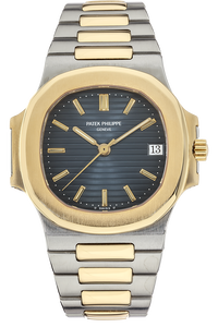 18K Yellow Gold and Stainless Steel Nautilus Reference 3800 Automatic